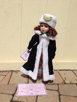"""J. MISA COLLECTIBLE 16"""" PORCELAIN MUSICAL MOVING DOLL """"Julia"""" NEW in BOX RARE!!"""