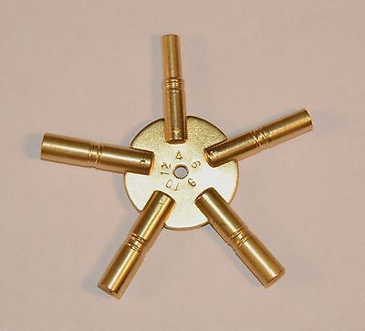 5 Prong Clock Key, Even Number Sizes