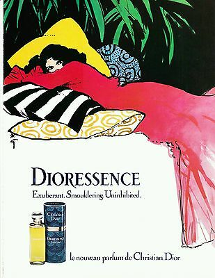 Vintage 1981 Christian Dior Dioressence fragrance perfume magazine print ad