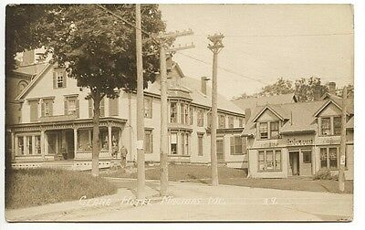 Machias ME Clares Hotel & Annex Street View 1913 RPPC Real Photo Postcard