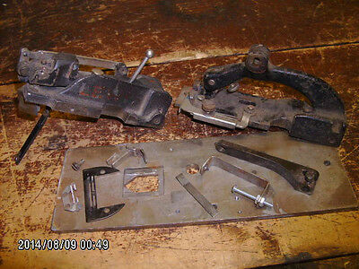 2 antique notcher attachments for industrial sewing machine -Lewis & Simanco