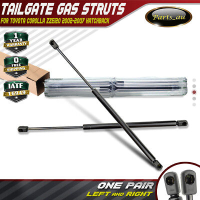 Set of 2 Tailgate Gas Struts for Toyota Corolla Hatchback 02-07 E120 ZZE120