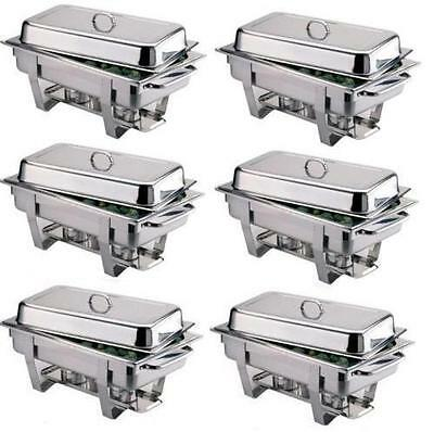 Pack Of 6 Stainless Steel Omega Chafing Dish Sets ***free Next Day Delivery***