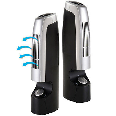 """2x12"""" Air Purifier Ionizer Ioniser Silent Fresher Revitaliser Cleaner Two Speed"""