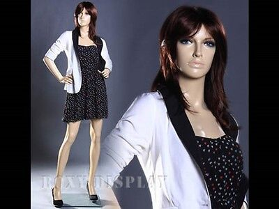 Fiberglass Female Mannequin Display Dress Form #MZ-ZARA1+FREE WIG