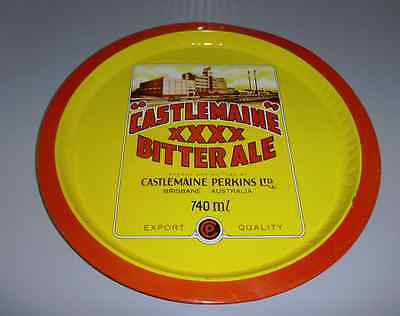 Castlemaine Perkins Ltd XXXX Bitter Ale Advertising Round Beer Tray