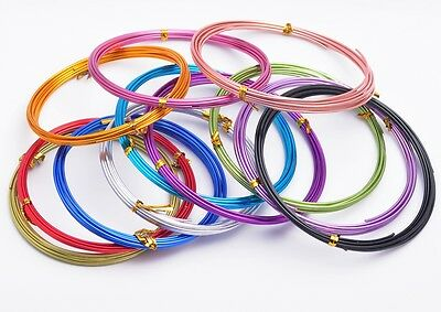 1 Roll 1/1.5/2mm Soft Aluminum Jewelry Making Finding Cord Craft Wire 12Colors