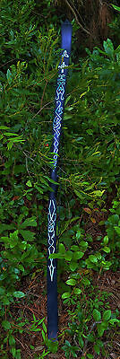 Black Longbow with Recurved Tips with Celtic Designs