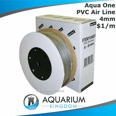 Aqua One Aquarium Soft Airline 4mm per One Metre $1/m Tubing Hose Line Air Pump