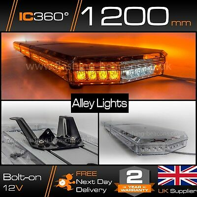 "LED Amber Recovery Light Bar with Side Alley Lights 120cm 1.2 Metre 48"" 1200 mm"
