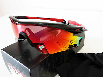 Oakley M2 Frame oo9212-06 Polished Black w/ OO Red Iridium Polarizzati