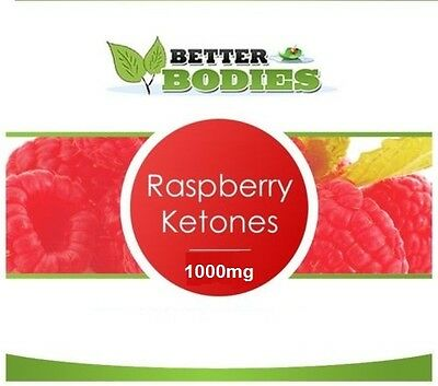 60 Raspberry Ketones 1000mg Super Strength Weight Loss Management Diet capsules