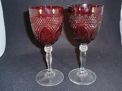 Cristal D'Arques Ruby wine/water Goblets - Luminarc/Durand - Set of 2