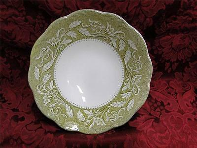 """Meakin, J & G, Renaissance Green, Ironstone: Cereal Bowl (s) 6 1/4"""""""
