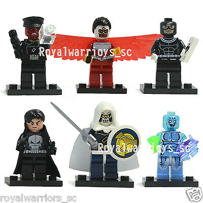 NEW 6 set Super Heroes MiniFigures RED SKULL/PUNISHER Action figure building Toy