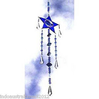 1 X  Beautiful Blue Glass Star Shaped Light Catcher (SC014)