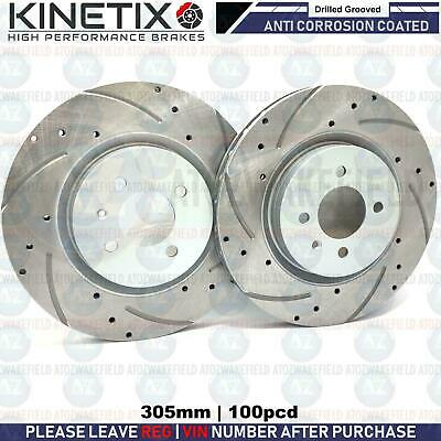 For Seat Ibiza cupra R 1.8 Turbo 180 front grooved brake discs 305mm 4studBrembo