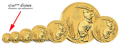 Piece or Australie 1/20 once Coq 2017 gold coin rooster 1/20 oz 5 dollars