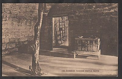 Postcard - C. 1930s View of the Dungeon. Cawdor Castle, Nairn, Scotland
