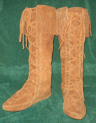 Custom Made Native American Plainsman Style Lace Up Boot Moccasins Men's Sizes