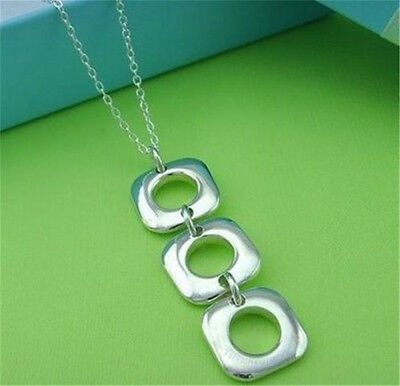Free Shipping Wholesale Price Fashion 925Solid Silver Chain Necklace Pendant