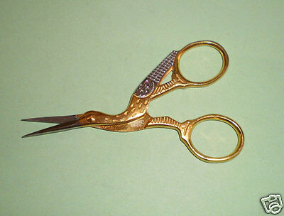 """Mundial Classic Forged 3-1/2"""" Stork Embroidery Scissors 108-CS"""