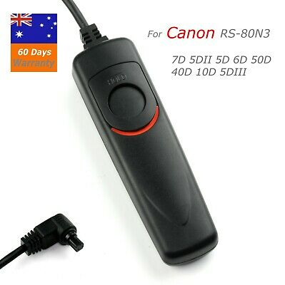 RS-80N3 Wired Remote Shutter Release for Canon EOS 5D/6D/7D/5DlI/50D/40D/5D3/1D