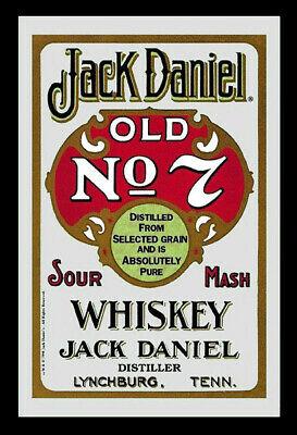 """JACK DANIELS - BAR MIRROR (OLD NO. 7 - SOUR MASH / RED) (SIZE: 9"""" x 12"""")"""