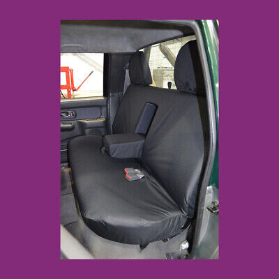 Mitsubishi L200 1998-2006 Black Waterproof & Tailored Rear Bench Seat Cover