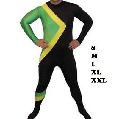 Jamaican Bobsleigh/ Bobsled Team, Second 2nd Skin,Fancy Dress Suit Party Costume