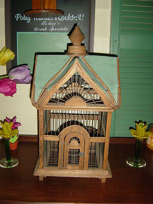 Victorian Style Metal&Wood Bird Cage/House!