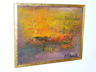 Abstract Expressionist OIL PAINTING Mid Century Modern Signed 1953 Listed Artist