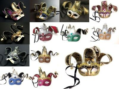 Halloween Masquerade Mask Prom Surprise Costume Party Jester Unisex Collection
