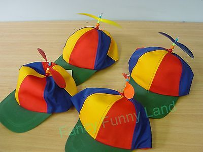 Propeller Hat Helicopter Cap Clown Jester Tweedle Dee Costume Accessory