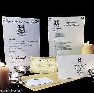 Harry Potter Hogwarts Personalised Acceptance Letter Special Christmas Gift for