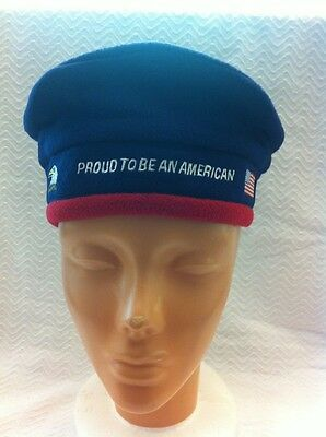 """Patriotic '' Proud To Be An American""""  Adjustable Beret New With Tags !!"""