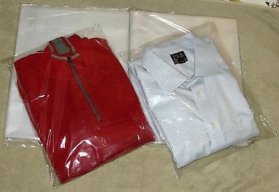 "50 Clear 12 x 15 Poly T Shirt Plastic Bags 2"" Flap Lock Packaging Shipping"