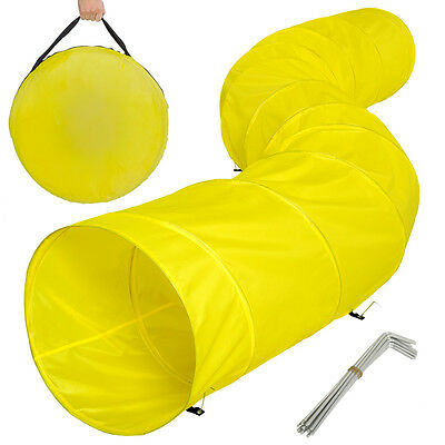 XXL agility tunnel dog training obedience toy play exercise 500cmx60cm yellow