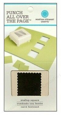 Martha Stewart All Over The Page Punch ~Scallop Square (Special Price Was $26)