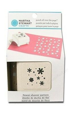 Martha Stewart All Over The Page Punch ~Flower Shower Pattern