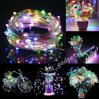 40 Led Battery Operated Micro Clear Wire String Fairy Party X'mas Wedding Lights