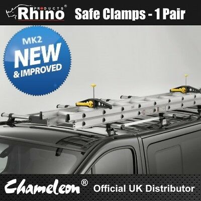 RHINO SAFECLAMP SAFE CLAMP VAN LADDER CLAMPS * FREE FAST DELIVERY* Wide Version