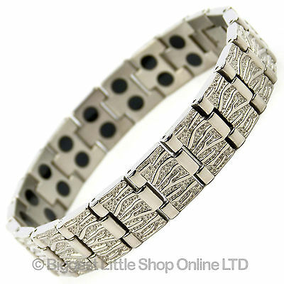 NEW Gents Mens TITANIUM Magnetic Bracelet 36 Magnets Therapy Ultra Light