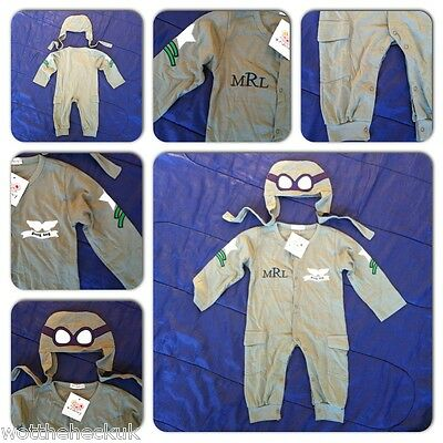Baby Grow Boys Toddlers Pilot Airplane Romper Fancy Dress Kids Hat Goggles RAF