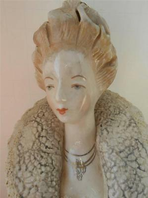 Cordey Porcelain  Bust Figurine Queen? 18th Century Lace Collar MINT Flowers
