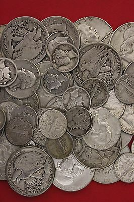 1 Standard Ounce 90% Silver U.S. Junk Coins 1 Half Dollar Included NO NICKELS