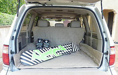 Cargo Liner Cargo Mat For Dog Pet Deluxe Quilted Padded Fit SUV Truck Van Taupe