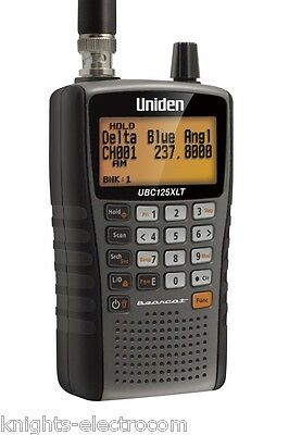 UNIDEN BEARCAT UBC125XLT SCANNER Military Airband & Alpha Tagging 500 ch ubc125