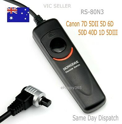 Wired Remote Shutter Release RS-80N3 for Canon EOS 7D/6D/5D/5D3/50D/40D/30D/1D