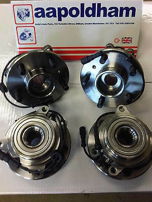 Land Rover Discovery 2 2.5 Td5 1998-04 Set Of 4 Front & Rear Wheel Bearing /hubs